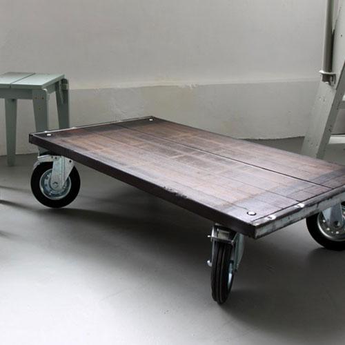 Salontafel van steenschotten hout   Tafel design   Tafel op maat op kleur   Shopping gids